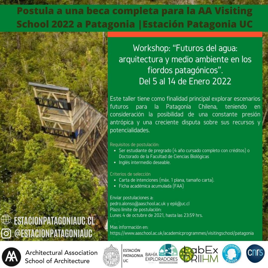 Postulación a becas para la AA Visiting School 2022 a Patagonia | Estación Patagonia UC | Facultad de Ciencias Biológicas UC
